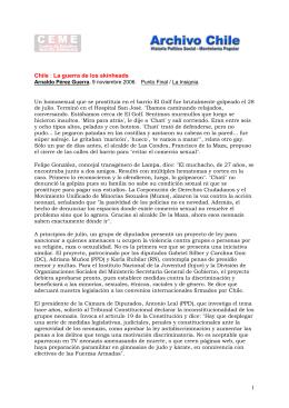 2006 11 09 La guerra de los skinheads. Arnaldo Pérez Guerra