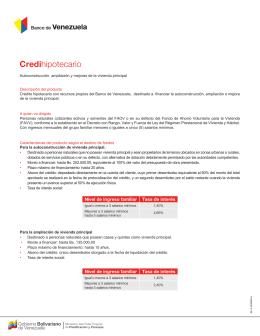 Credihipotecario - Banco de Venezuela