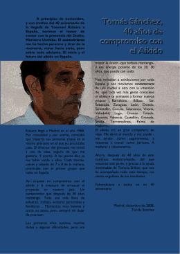 En 2009, 40 años de compromiso con el Aikido