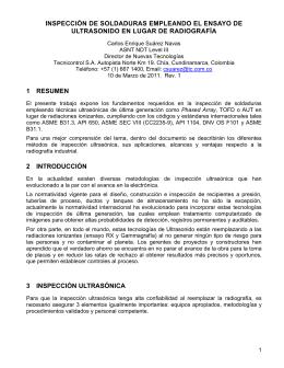 INSPECCIÓN DE SOLDADURAS EMPLEANDO EL