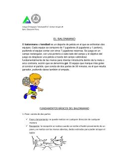 fundamentos básicos del balonmano