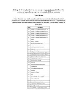 zacatecas - cumplimiento del PEF - Secretaría de Educación Pública