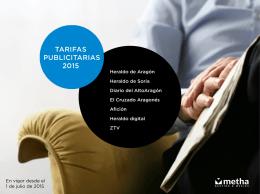 Tarifas Grupo Heraldo 2015