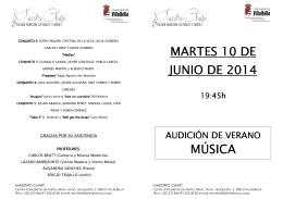 Audición de Música2014