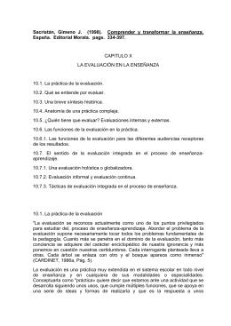 Sacristán, Gimeno J. (1998). Comprender y transformar la