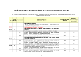 CATÁLOGO DE MATERIAL ORTOPROTÉSICO DE LA