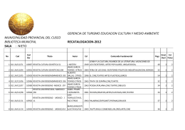 Catálogo de Libros Sala Nieto