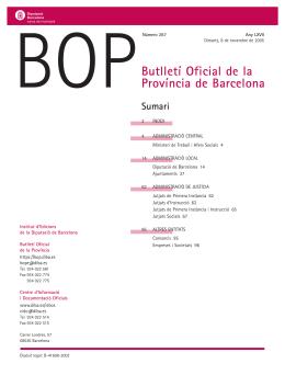 Butlletí Oficial de la Província de Barcelona