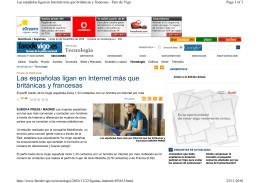 Las españolas ligan en Internet más que británicas y francesas