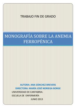 monografía sobre la anemia ferropénica