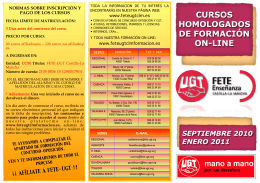 cursos homologados de formación on-line - FETE