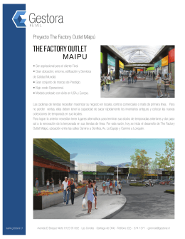 Proyecto The Factory Outlet Maipú