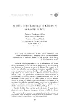 El libro I de los Elementos de Euclides en las novelas de loros