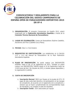 (Convocatoria XXXVII Campeonato de Espa\361a VF4 2015)