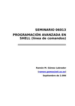 Línea de comandos - Universidad de Sevilla