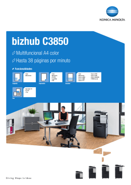 Datasheet bizhub C3850, PDF