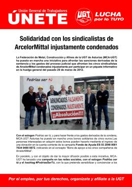 Solidaridad con los sindicalistas de ArcelorMittal