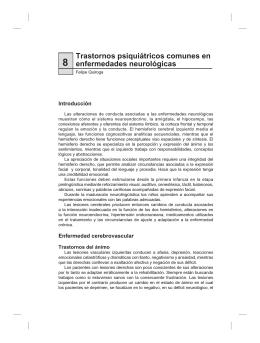 Trastornos psiquiátricos comunes en enfermedades neurológicas