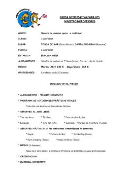 carta informativa - Grupos Organizados