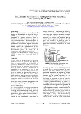 desarrollo de un sistema de maquinado por descarga eléctrica (edm)