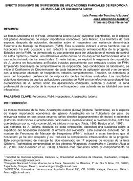 Efecto disuasivo de oviposición de aplicaciones parciales