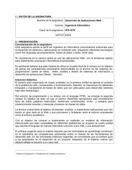 IINF-2010-220 Desarrollo de Aplicaciones Web