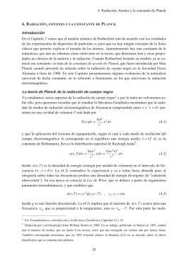 04 Radiación, fotones y la constante de Planck