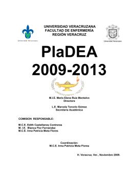 Plan de desarrollo (PLADEA) 2009 -2013