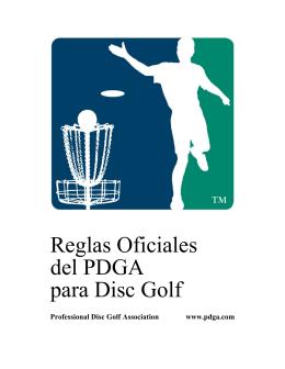 Reglas Oficiales del PDGA para Disc Golf