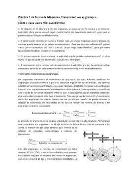 Prác ctica 1 de Teoría de e Máquina as. Transm misión con n