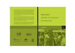 Ayacucho: Análisis de situación en población
