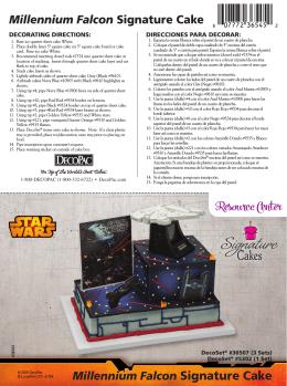 Star Wars Millennium & Falcon Signature Cake DecoSet® Cake