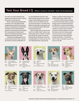 March-April 2013 Test Your Breed IQ