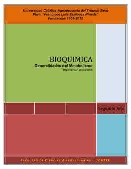 Folleto 3 Bioquimica Generalidades del Metabolismo