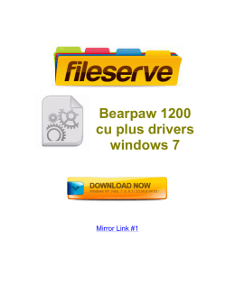 Bearpaw 1200 cu plus drivers windows 7