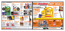 HOT DEALS - AutoZone