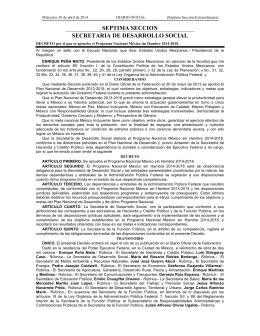 Programa Nacional México sin Hambre 2014-2018