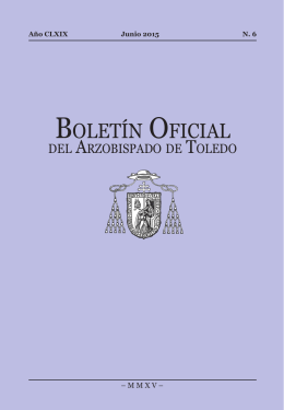 Junio 2015 - Archidiócesis de Toledo