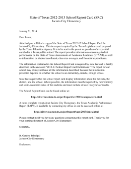 Sample Cover Letter (English) - Galena Park Independent School