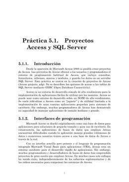 Práctica 5.1. Proyectos Access y SQL Server