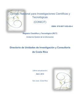 Directorio de Unidades de Investigación y Consultoría de Costa Rica