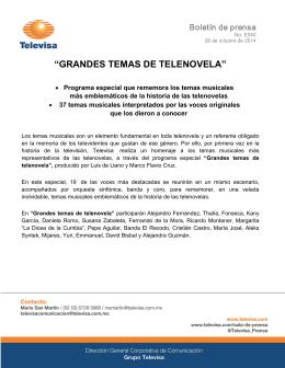 """""""GRANDES TEMAS DE TELENOVELA"""""""