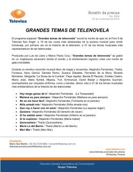 GRANDES TEMAS DE TELENOVELA