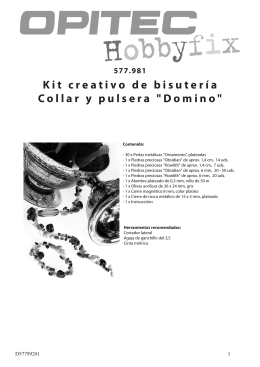 "Kit creativo de bisutería Collar y pulsera ""Domino"""