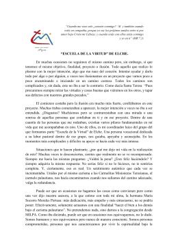 """""""ESCUELA DE LA VIRTUD"""" DE ELCHE. En"""