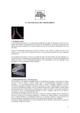 1 LA TECNOLOGIA DEL MICROARRAY - centre