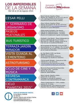 pianistas 2015 - Municipalidad de la Ciudad de Mendoza