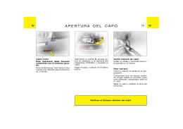 APERTURA DEL CAPÓ