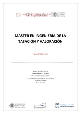 Programa del Máster en Tasación y Valoración (Archivo PDF)