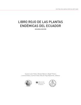 LIBRO ROJO DE LAS PLANTAS ENDÉMICAS DEL ECUADOR